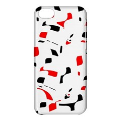 White, red and black pattern Apple iPhone 5C Hardshell Case