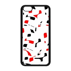 White, red and black pattern Apple iPhone 5C Seamless Case (Black)