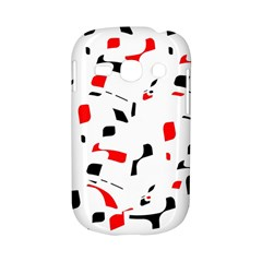 White, red and black pattern Samsung Galaxy S6810 Hardshell Case
