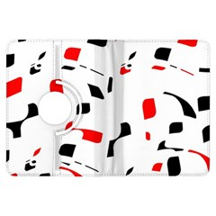 White, red and black pattern Kindle Fire HDX Flip 360 Case