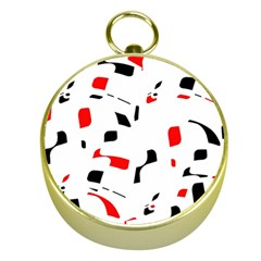 White, red and black pattern Gold Compasses