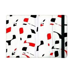 White, red and black pattern iPad Mini 2 Flip Cases