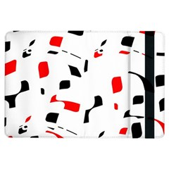White, red and black pattern iPad Air Flip