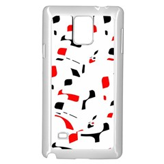 White, red and black pattern Samsung Galaxy Note 4 Case (White)