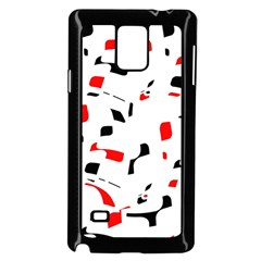 White, red and black pattern Samsung Galaxy Note 4 Case (Black)