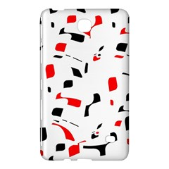 White, red and black pattern Samsung Galaxy Tab 4 (7 ) Hardshell Case