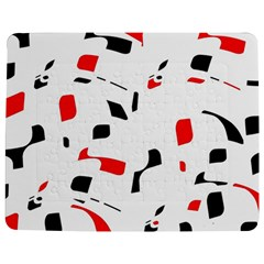 White, Red And Black Pattern Jigsaw Puzzle Photo Stand (rectangular)