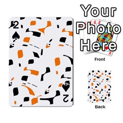 Orange, white and black pattern Playing Cards 54 Designs