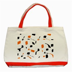 Orange, white and black pattern Classic Tote Bag (Red)