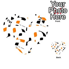 Orange, white and black pattern Playing Cards 54 (Heart)