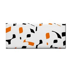 Orange, white and black pattern Hand Towel