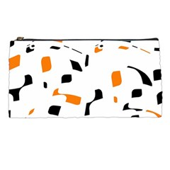 Orange, white and black pattern Pencil Cases