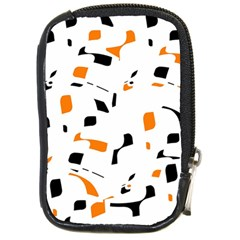 Orange, white and black pattern Compact Camera Cases