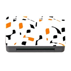 Orange, white and black pattern Memory Card Reader with CF