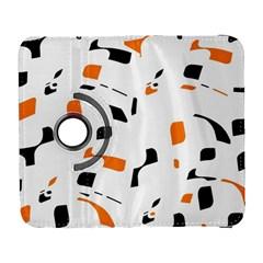 Orange, white and black pattern Samsung Galaxy S  III Flip 360 Case