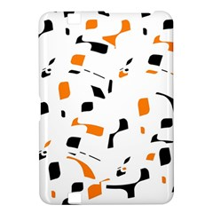 Orange, white and black pattern Kindle Fire HD 8.9