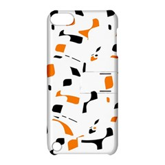 Orange, white and black pattern Apple iPod Touch 5 Hardshell Case with Stand