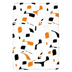 Orange, white and black pattern Flap Covers (S)