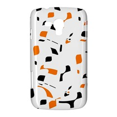 Orange, white and black pattern Samsung Galaxy Duos I8262 Hardshell Case