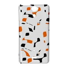 Orange, white and black pattern Sony Xperia V