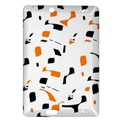 Orange, white and black pattern Amazon Kindle Fire HD (2013) Hardshell Case