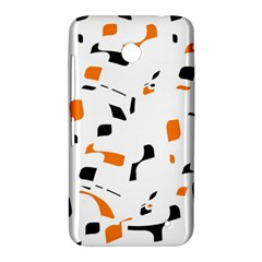 Orange, white and black pattern Nokia Lumia 630