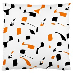 Orange, white and black pattern Standard Flano Cushion Case (Two Sides)