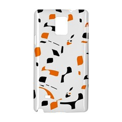 Orange, white and black pattern Samsung Galaxy Note 4 Hardshell Case