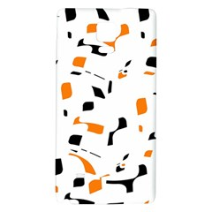 Orange, white and black pattern Galaxy Note 4 Back Case