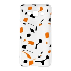 Orange, white and black pattern Samsung Galaxy A5 Hardshell Case