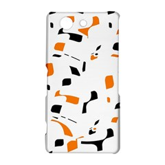Orange, white and black pattern Sony Xperia Z3 Compact