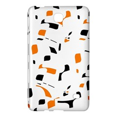 Orange, white and black pattern Samsung Galaxy Tab 4 (7 ) Hardshell Case