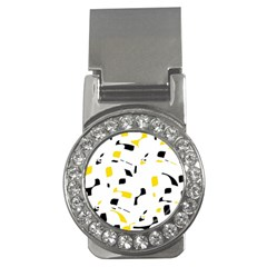 Yellow, black and white pattern Money Clips (CZ)