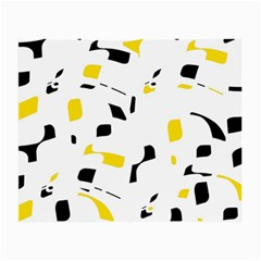 Yellow, black and white pattern Small Glasses Cloth