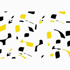 Yellow, black and white pattern Collage Prints