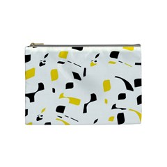 Yellow, black and white pattern Cosmetic Bag (Medium)