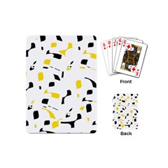 Yellow, black and white pattern Playing Cards (Mini)