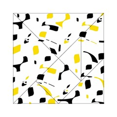 Yellow, black and white pattern Acrylic Tangram Puzzle (6  x 6 )