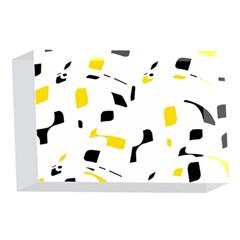 Yellow, black and white pattern 4 x 6  Acrylic Photo Blocks