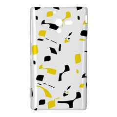 Yellow, black and white pattern Sony Xperia ZL (L35H)