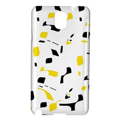 Yellow, black and white pattern Samsung Galaxy Note 3 N9005 Hardshell Case
