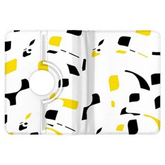 Yellow, black and white pattern Kindle Fire HDX Flip 360 Case