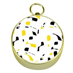 Yellow, black and white pattern Gold Compasses