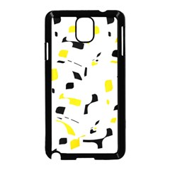 Yellow, black and white pattern Samsung Galaxy Note 3 Neo Hardshell Case (Black)