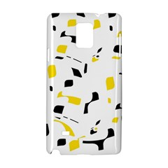 Yellow, black and white pattern Samsung Galaxy Note 4 Hardshell Case