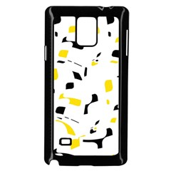 Yellow, black and white pattern Samsung Galaxy Note 4 Case (Black)