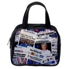 Hillary 2016 Historic Newspaper Collage Classic Handbags (One Side)
