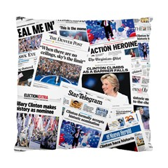 Hillary 2016 Historic Newspaper Collage Standard Cushion Case (Two Sides)