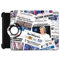 Hillary 2016 Historic Newspaper Collage Kindle Fire HD Flip 360 Case