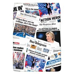 Hillary 2016 Historic Newspaper Collage Flap Covers (L)